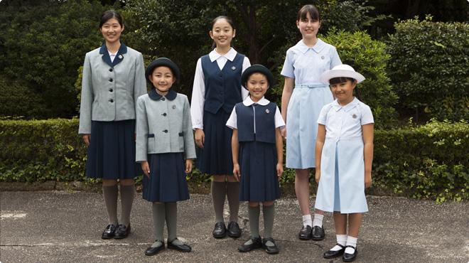 聖心女子学院高等科制服画像